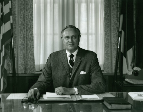 Belk at Mayor Desk